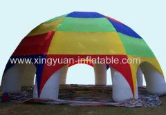warm te koop regenboog opblaasbare spin tent