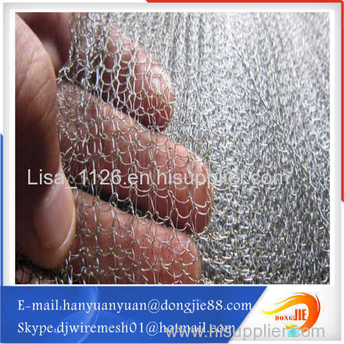 Less noise motor Gas or liquid filter screen cloth knitted Wire Mesh