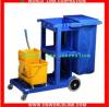 4 wheels restaurant plastic cleaning cart