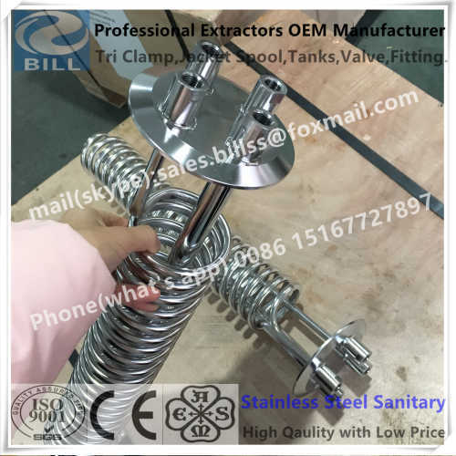 Stainless Steel Sanitary Cooling Coil Tube welded with tri