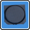 Customized metal square Speaker Mesh with dark chrome