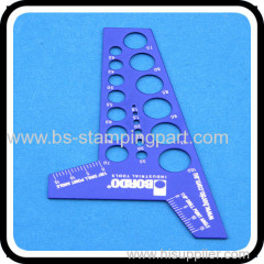 Customized metal sheet dividing rule/scale with silk-screen