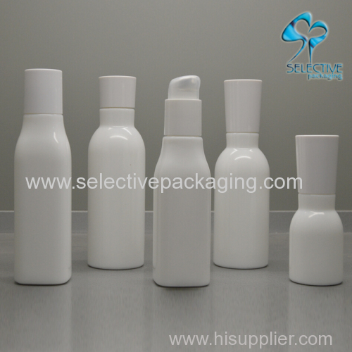 china high quality white opal glass cosmetic lotion bottle
