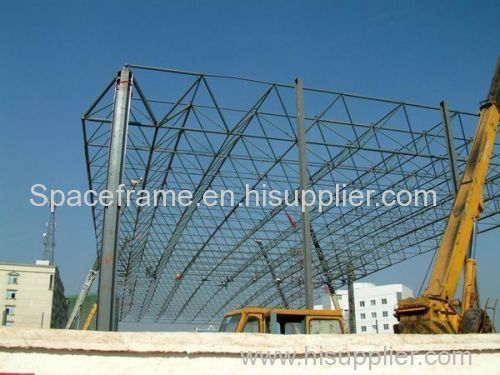 Low cost steel structure building space frame roof system