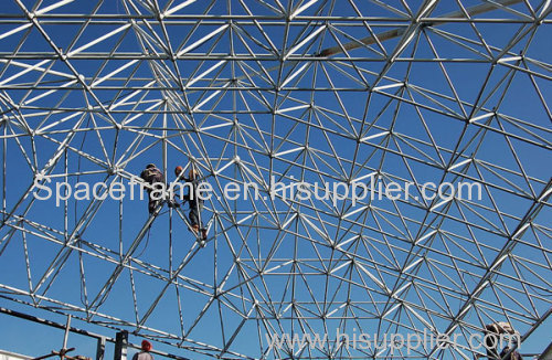 High quality low cost steel structure building steel space frame roof system