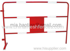 Reflective stripe safety movable barrier fence red crowd control barrier construction use pedestrian fence