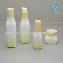 empty cosmetic opal square glass bottle with wtp lid