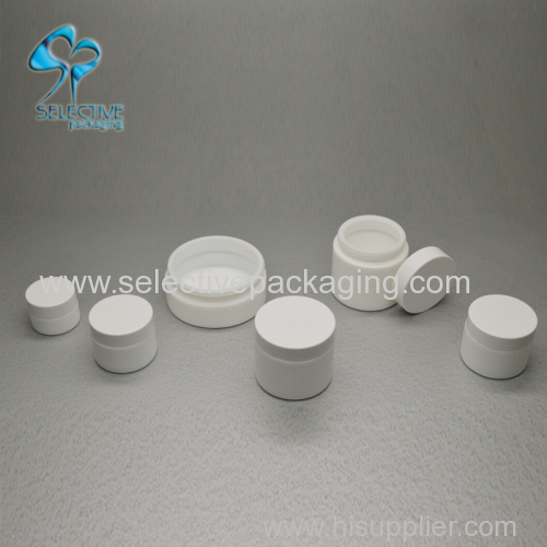 cosmetic opal glass jars with custom made wood lid