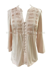 Women's V-neck Knitted Blouse