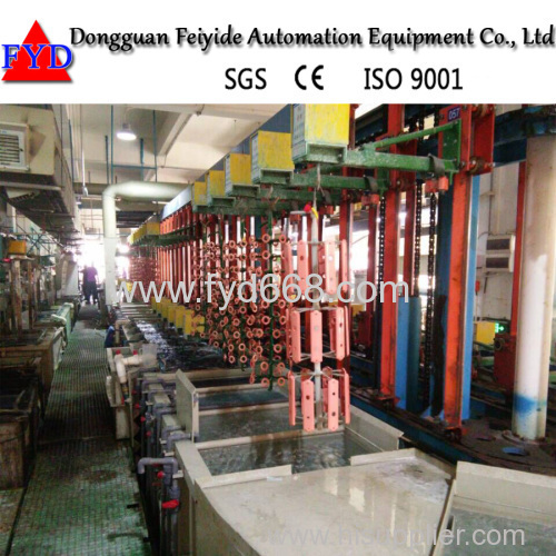 Feiyide Automatic Ring- type Vertical Plating Line for Hardware Parts and Bath Accessory