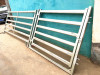 1.8x2.1m Heavy Duty Cattle Yard Panels 6 Oval Rails Locking Pins Delivery Available Round