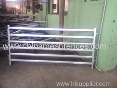 1.8M x 2.1M Heavy Duty Portable Cattle Yard Panel 5 Oval Bars 2.5mm Thickness