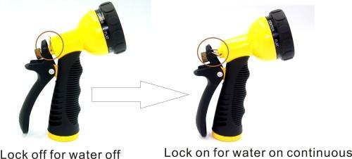 Metal Multi-purpose garden water spray nozzle