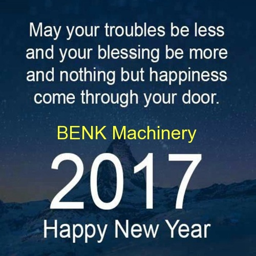 happy new year to all our friends-benk machinery
