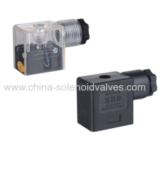 DIN43650B Black or white or brown connector