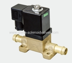 piston type solenoid valve for compressed air or gas