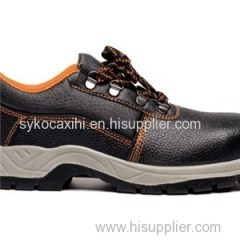 Low Cut Safety Boot Injecton Pu Sole Upper Action Leather