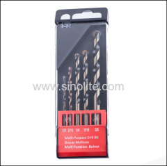 Multi-purpose drill bit in METRIC sizes 5PCS 4-5-6-8-10mm