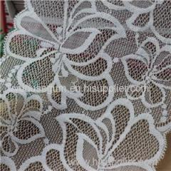 White Flowered Galloon Lace for garment accessories Black Ribbons (J0018)