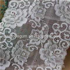 White Jacquard Embroidery Flowered Galloon Lace for Underwear (J0007)