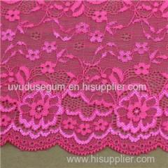 Nylon Spandex Jacquard 18.5 Cm rose red Galloon Lace for dress fabric (J0017)