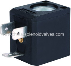 thermosetting solenoid coil for pneumatic steam application