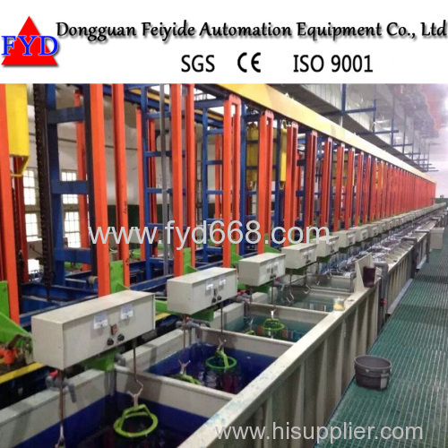 Feiyide Automatic Rack Electroplating Production Line for Zinc Silver Plating With Best Price