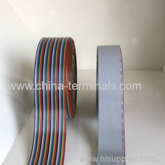 flat cable mutli color Ribbon Cable 10-64p 1.27mm 300V 105℃
