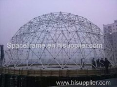 High quality steel space frame dome steel structure roofing