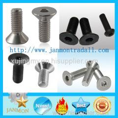 High Strength Hexagon Socket Countersunk Screw Zinc hexagonal socket nut Black oxide hex socket nut Steel hex socket nut