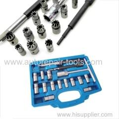 17pcs Diesel Injector Seat Cutter Set BMW Ford Peugeot Citroen Renault Bosch