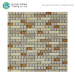 Square Ceramic Rectangle China Glass Mix Natural Stone Mosaic Tile Backsplash