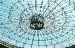 Steel space frame dome steel structure roofing