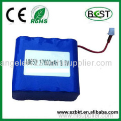 type 3.7 v li-ion 17600mah 1S8P 3.7v icr li-ion rechargeable battery