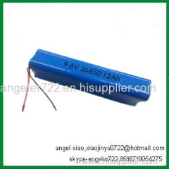 9.6v rechargeable battery 12AH lifepo4 battery