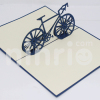 Racing bike 3d pop-up card