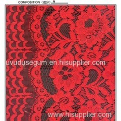 Red Guipure Lace Fabric