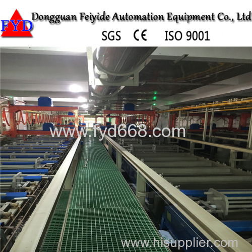 Feiyide Automatic Barrel Plating Production Line for Gold Chrome Electroplating with German Raw Material