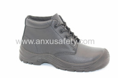 split emboss leather and PU outsole safety boots