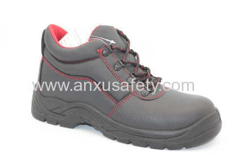 split emboss leather safety boots pu/pu outsole safety footwear