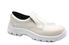 AX16028 white PU upper safety shoes