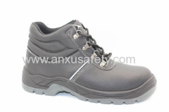 AX05041 black split emboss leather safety boots