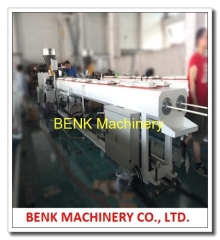 PVC conduit dual pipe extrusion line with SIEMENS motor and ABB inverter
