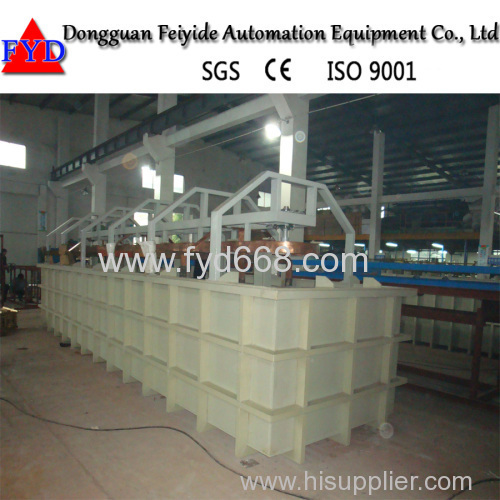 Feiyide Single Kind Rack Plating Production Line for Nickel Chrome Plating with Best Price