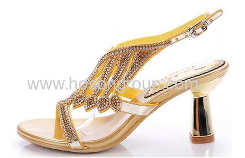 Women speical heel rhinestone sandals