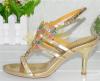 Gold single sole open toe women sandals