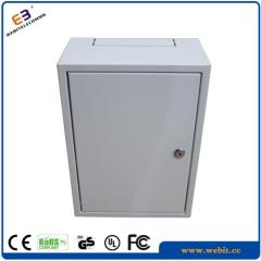 "10"" 8U slim wall mounted rack cabinet"