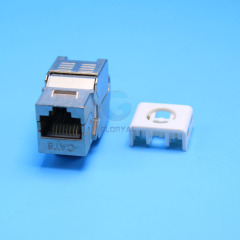 Hot rj45 cat6a toolless type FTP keystone jack
