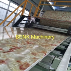 Faux PVC marble sheet extrusion machine line