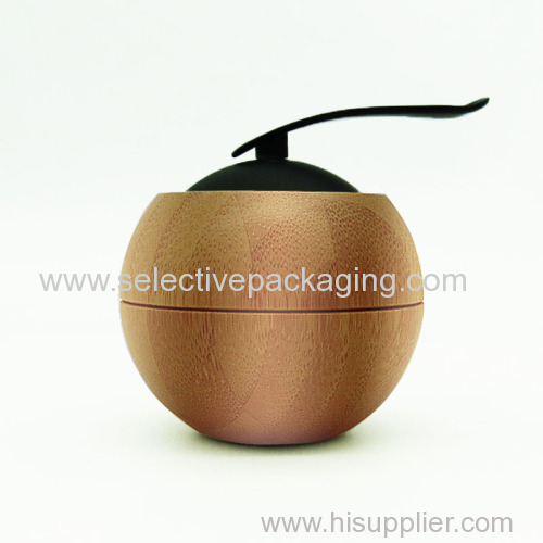 50G BAMBOO APPLE JAR WITH SPOON